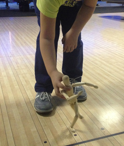 Use of the mannequin during training sessions involving young bowlers is especially effective.