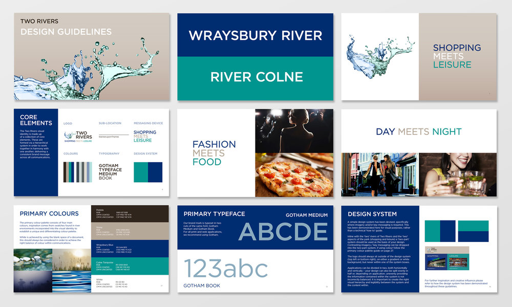 Logo Design, Brand Identity and Brand Guidelines - Two Rivers Shopping Centre