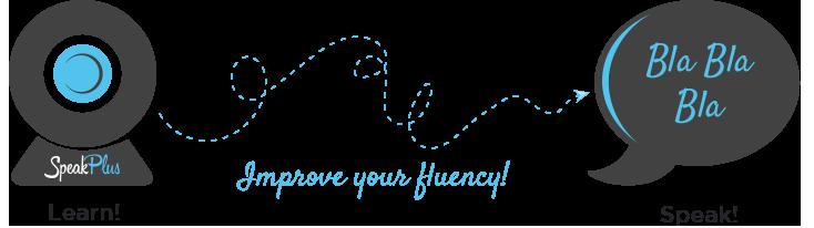 Learn, improve your fluency, speak