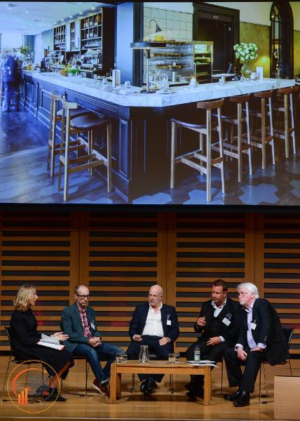 Leaders Panel:Karen Jones CBE, Matt Scriven (Bitters'N'Twisted), Mark Derry (Brasserie Bar Co.), Jason Myers (Busaba) and chair Peter Martin (CGA Peach)