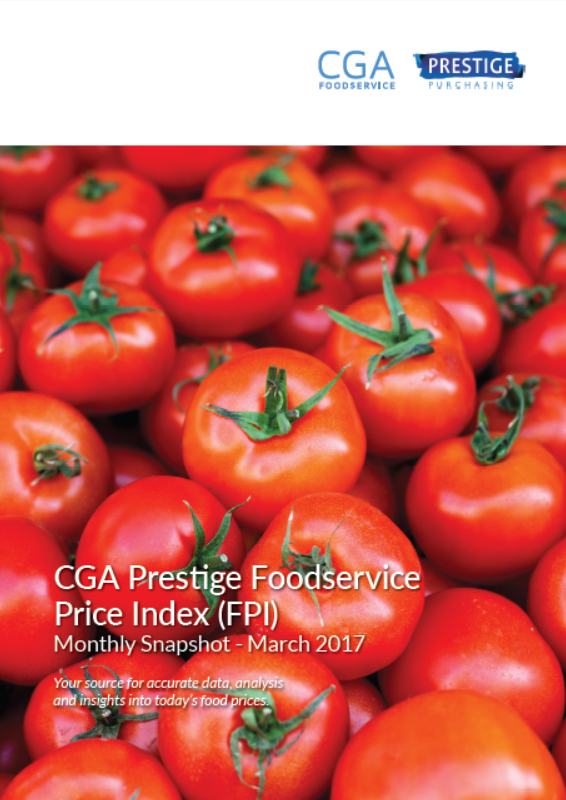 Download Report: CGA Prestige Foodservice Price Index (FPI) - March 2017