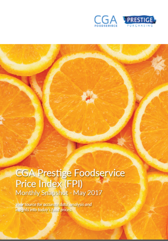 Download Report: Foodservice Price Index Monthly Snapshot - May 2017