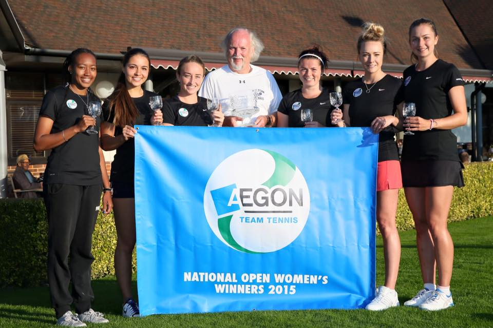 Nike TEnnis Coach Olivia Nicholls (far right)