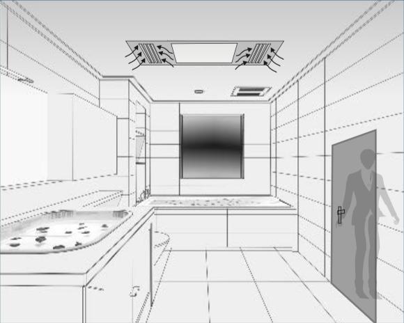 Después del tiempo configurado si movimiento apaga las luces y deja el ventilador funcionando.