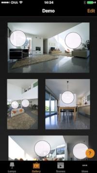 control escenas iluminación