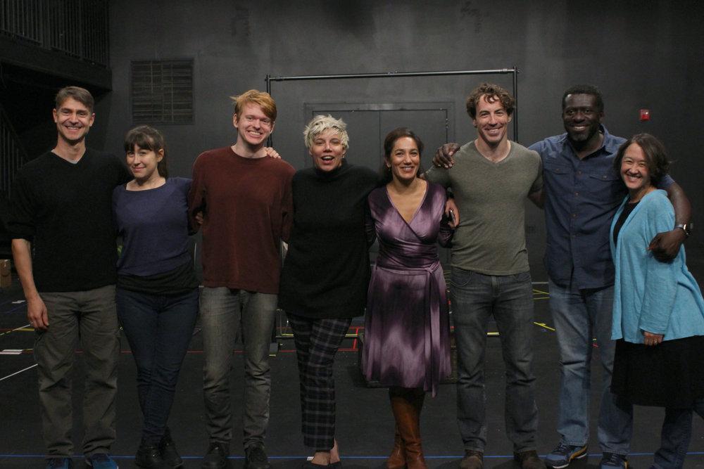 Pictured Above: Scott Barrow, Jill Frutkin, Andrew Duff, Jessica Almasy, Purva Bedi, Brian Hastert, Oberon K.A. Adjepong, Michi Barall