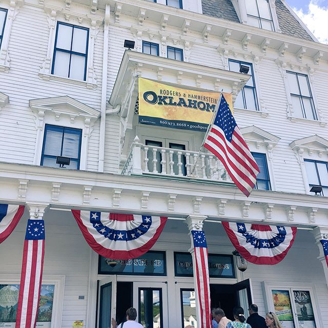 An absolutely beautiful day in East Haddam for Oklahoma at @goodspeedmusicals directed by Jenn Thompson.  We loved the show!