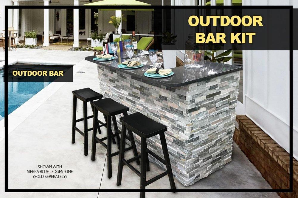 Stone Henge Outdoor Bar Kit