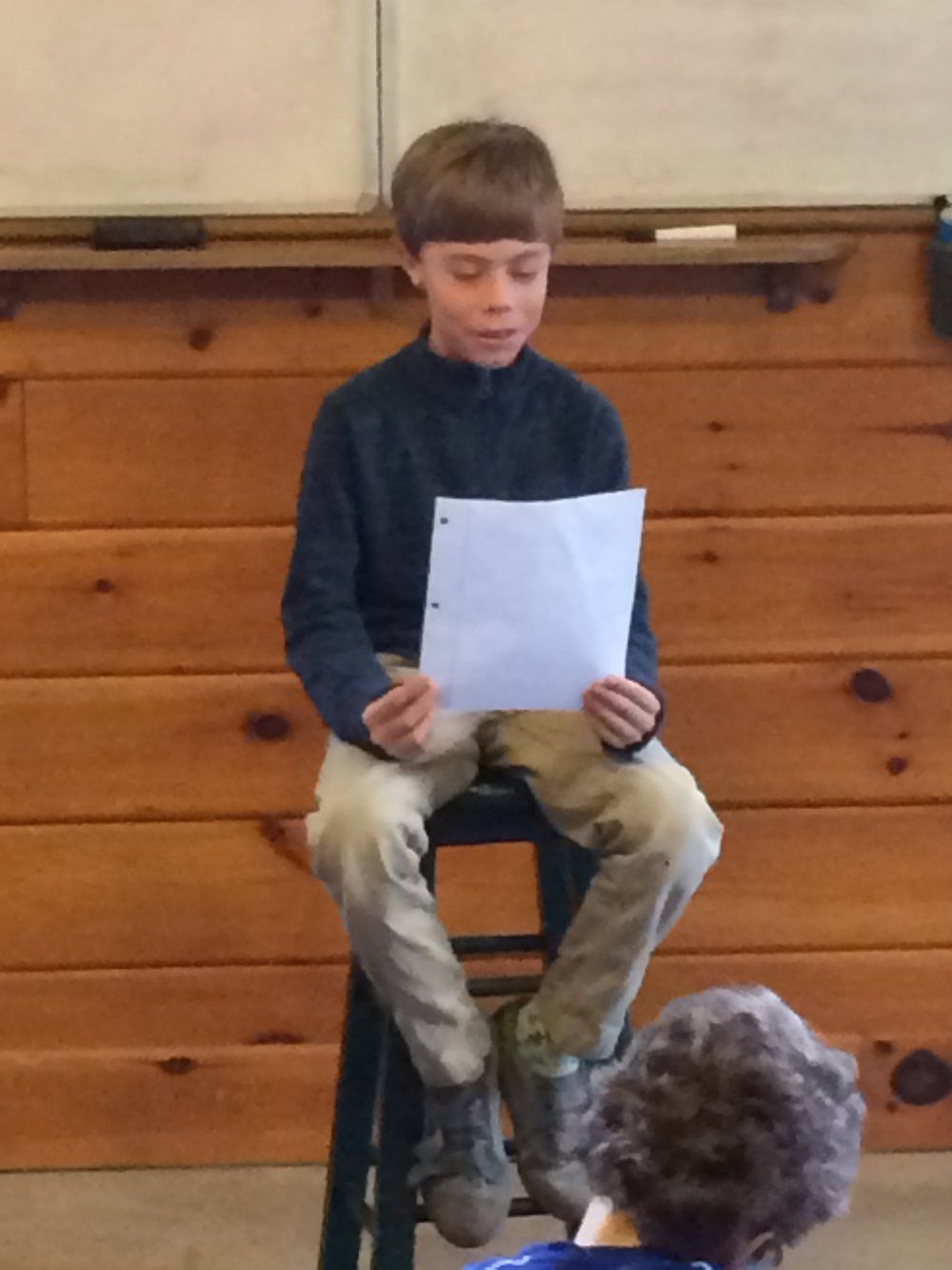 Poetry Slam 3rd grader reciting.JPG