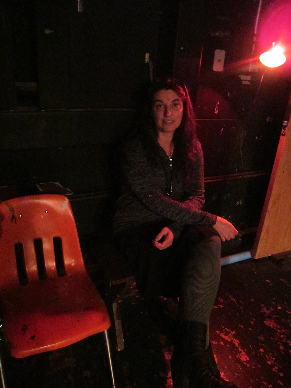 Wild Journey Caroline backstage stage manager.JPG