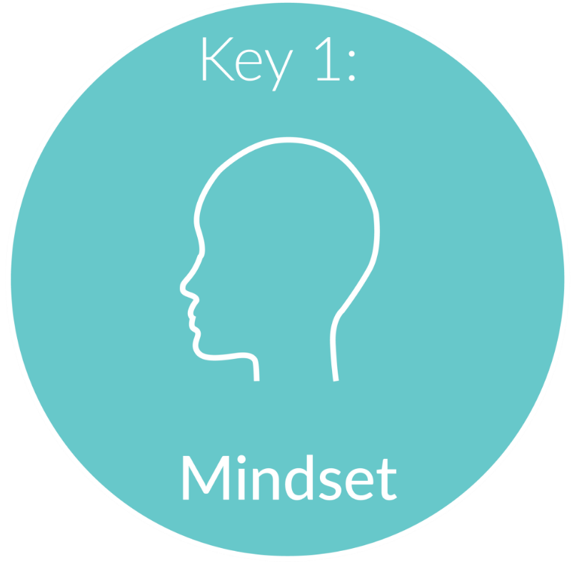Key 1:      Mindset.       Mind over matter is crucial in business. Our minds can be powerful tools in either holding us back or launching us to success. We will need to uncover your fears and blocks that limit your ability to dream big and make those dreams a reality.  Getting into the right mindset will attract the clients you want at a price that shows your truest value.