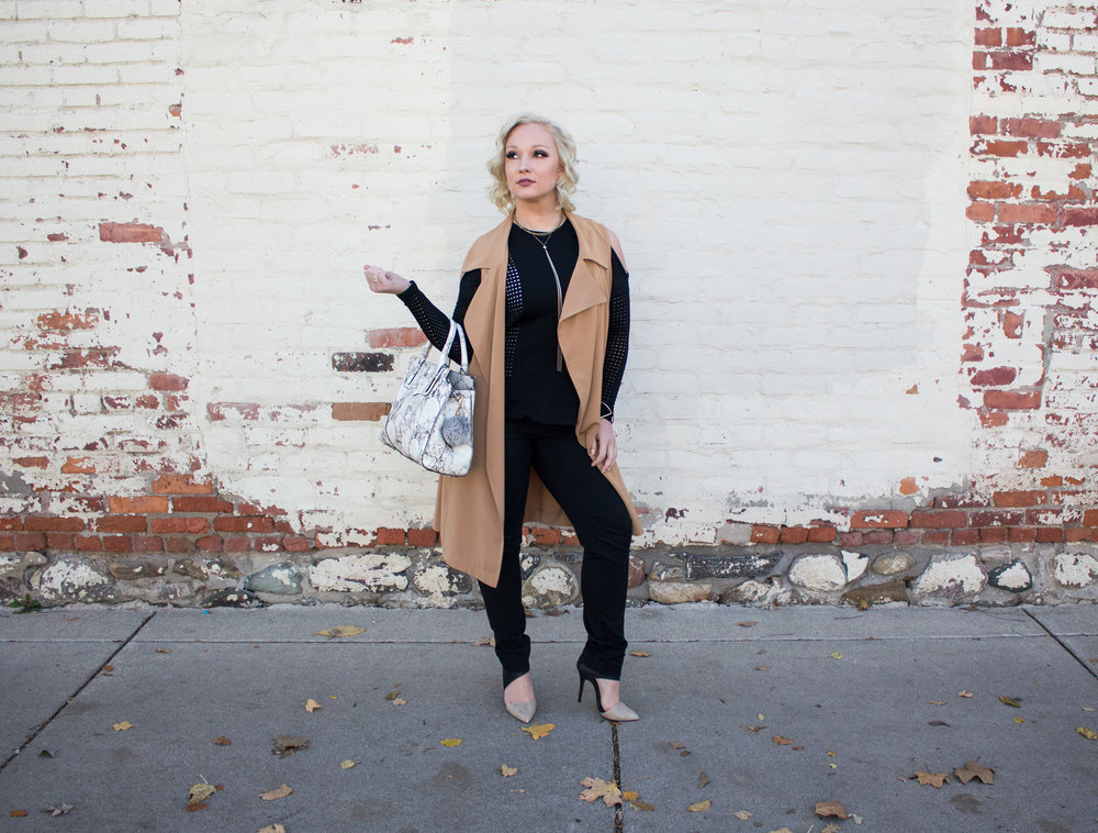 Emily Essentially | Fashion | Black & Tan: Color Block for Fall 9