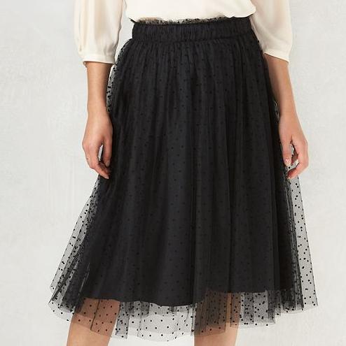 Emily Essentially | Fashion | Kohl's - LC Lauren Conrad Swiss Dot Tulle Skirt
