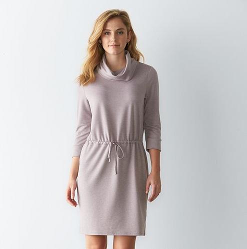 Emily Essentially | Fashion | Kohl's - Sonoma Cowlneck Shift Dress
