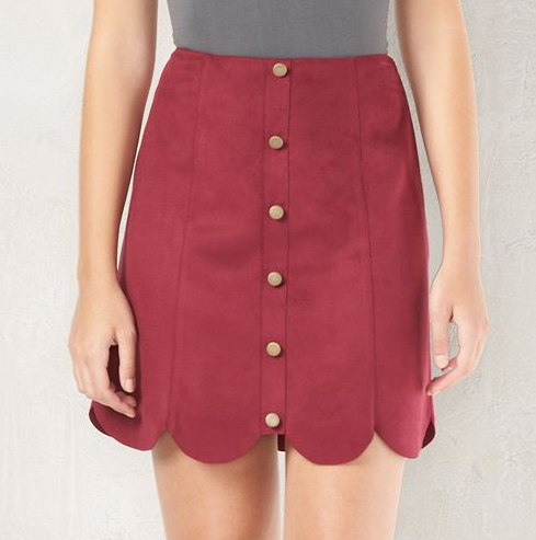 Emily Essentially | Fashion | Kohl's - LC Lauren Conrad Scalloped Faux-Suede Skirt
