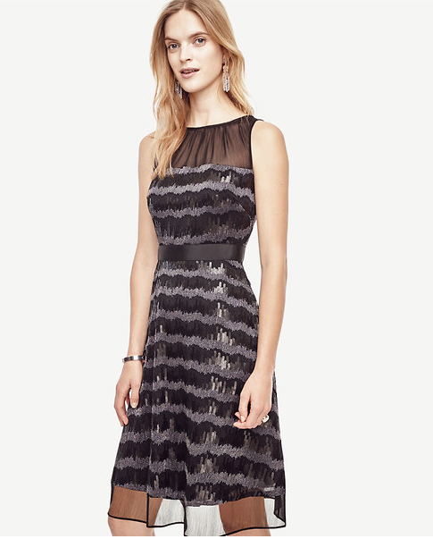Emily Essentially | Fashion | Ann Taylor - Sequin Stripe Flare Dress