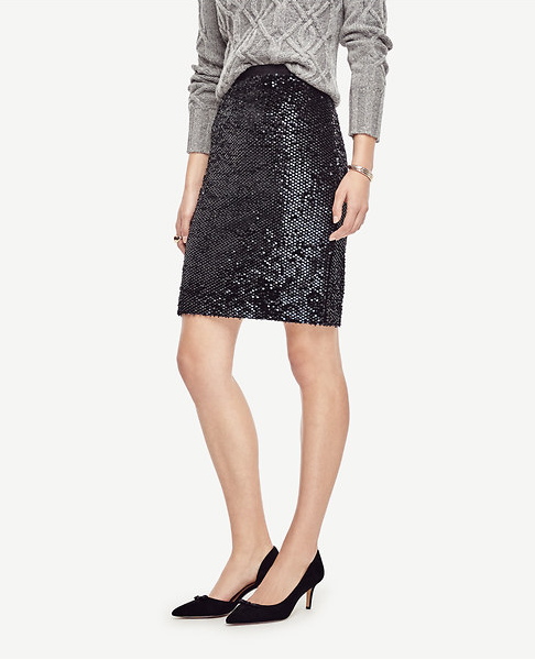 Emily Essentially | Fashion | Ann Taylor - Sequin Pencil Skirt