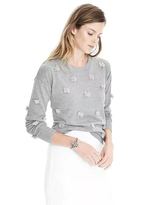 Emily Essentially | Fashion | Banana Republic - Pom Pom Sweater Crew