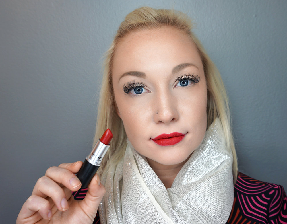 Emily Essentially | Beauty | Best Holiday Red Lippies - MAC - Ruby Woo
