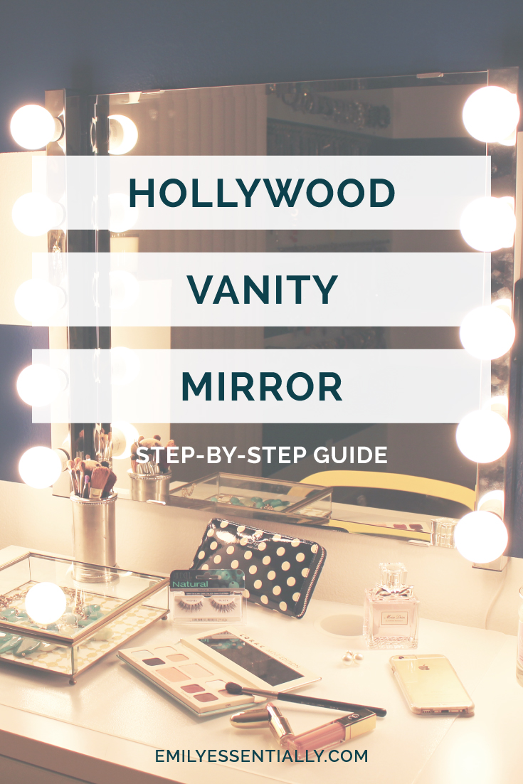 Step By Guide Hollywood Vanity Mirror Emily Essentially How To Hook Up Two Lights On One Switch Midwest Life Style