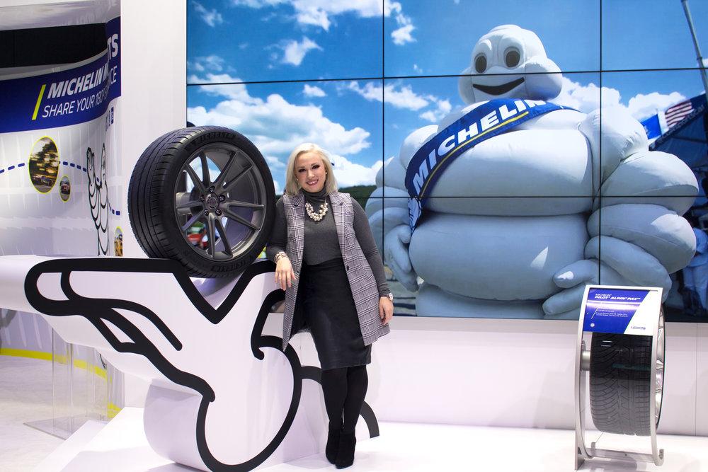 Emily Essentially | Lifestyle | NAIAS 2017 Michelin Tire Exhibit