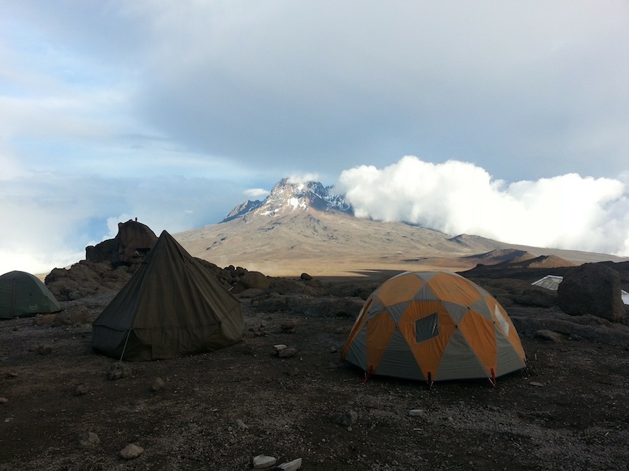 Camped on Kili.