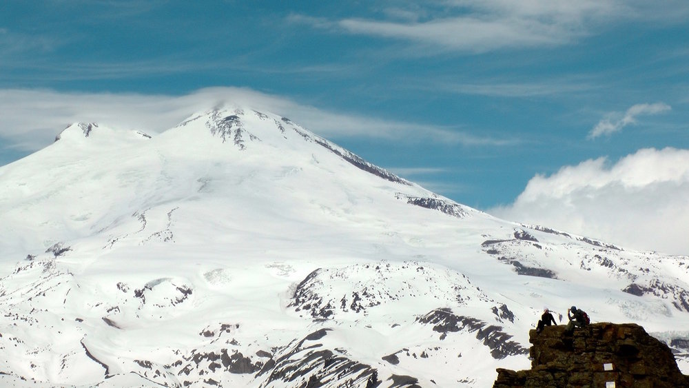 Looking at the summit of Elbrus.
