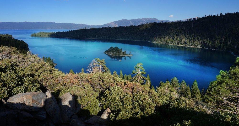 Lake Tahoe in Sierra Nevada.