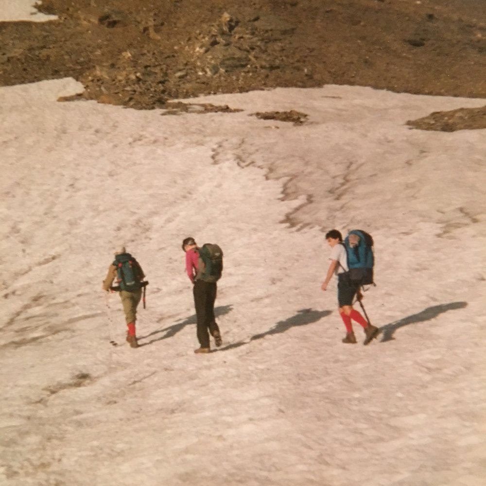 Dino, The Armchair Mountaineer and his brother on Rosa dei Banchi in 1992.