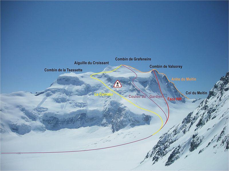 Grand Combin Climbing Routes