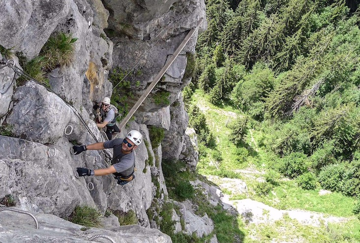 The Armchair Mountaineer on a Via Ferrata.