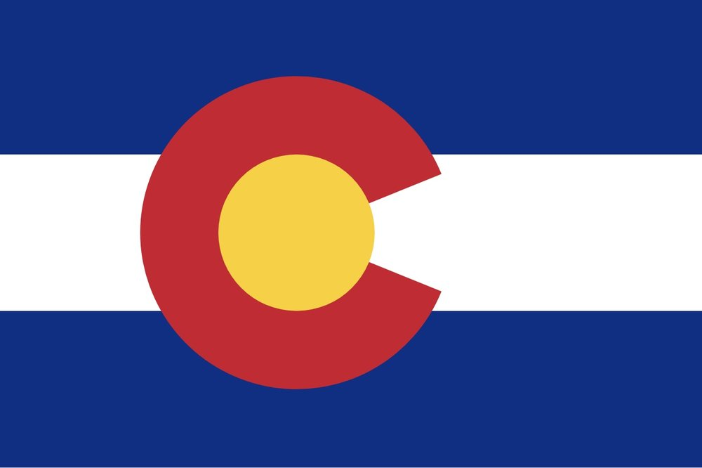 The flag of Colorado, USA