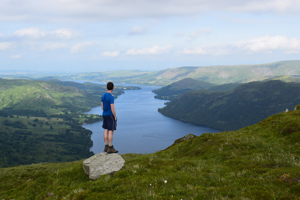 James gazing over Ullswater in the Lake District