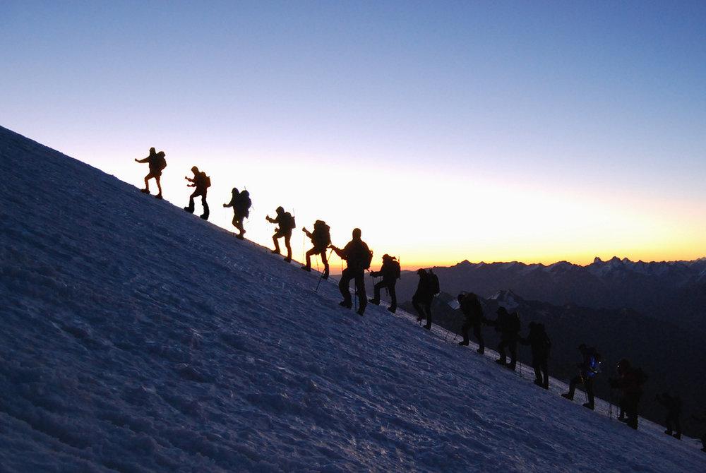 Ascending Mt Elbrus