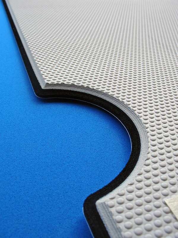 SeaDek is fabricated from a closed-cell EVA foam material that is easy to clean and stain resistant.