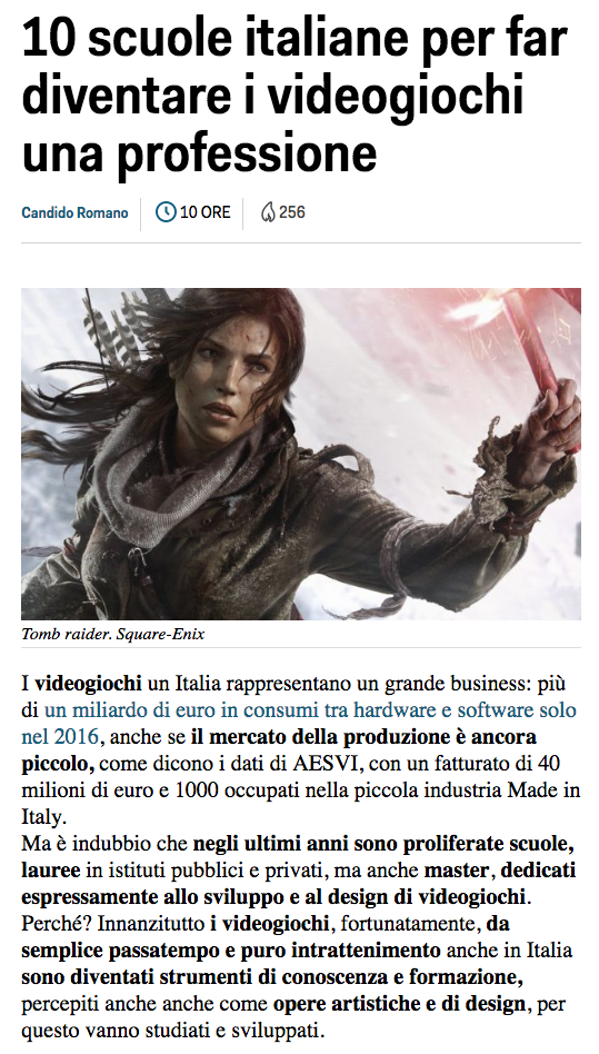 IULM GAME DESIGN BUSINESS INSIDER