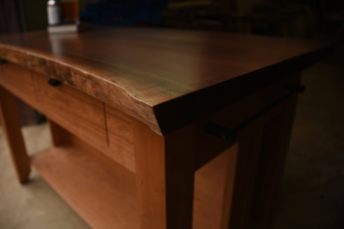 Kitchen island by Roxie Woodworks
