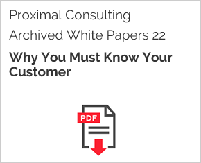 Archived White Paper  22: Why You Must Know Your Customer