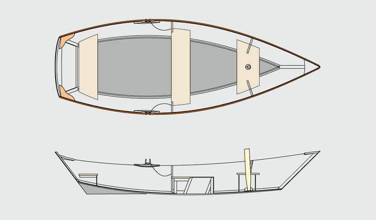 Echo Bay Dory Skiff general arrangement