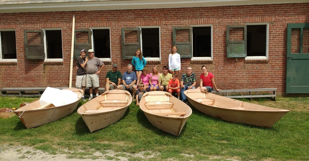 The families of WoodenBoat Schools Family Week Build Your own Echo Bay Dory Skiff