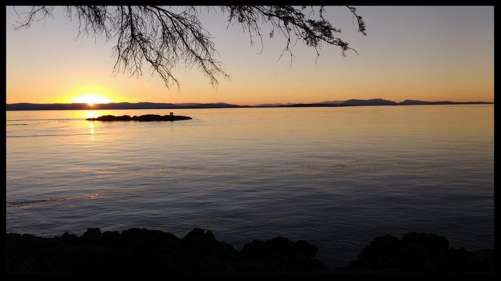 Sunset off the west coast of San Juan Island