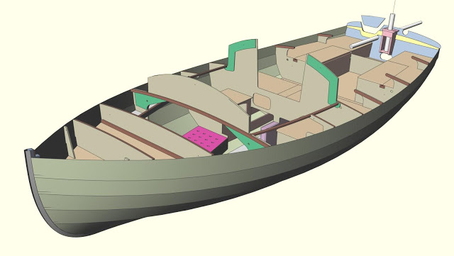 The 3D model of Jewell showing the interior structure and layout.
