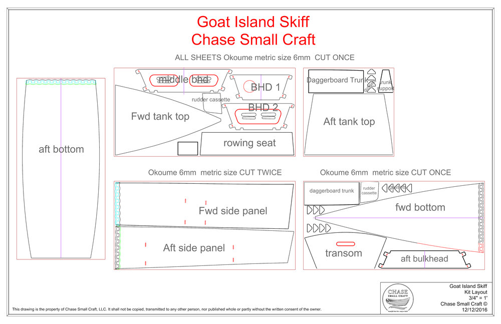 Sheet Layout for Goat Island Skiff