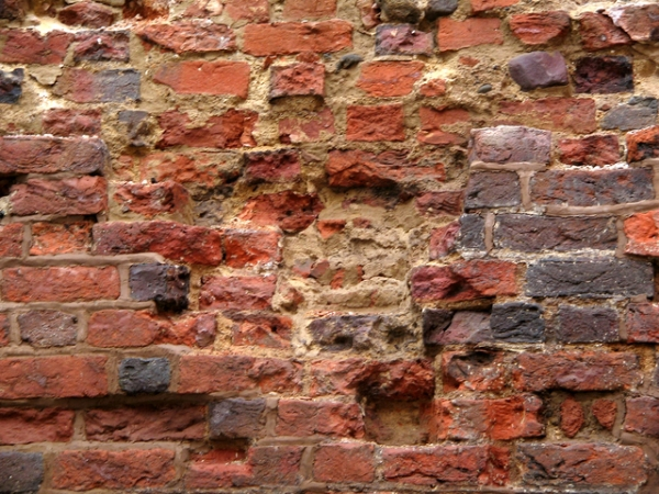 Damaged brickwork