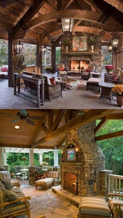 The right fireplace makes amazing  outdoor living  centrepiece.