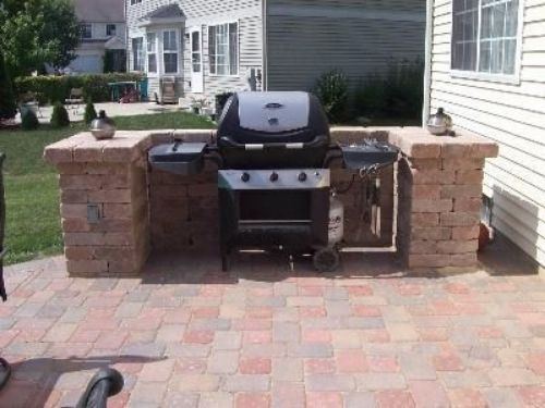 Here's a straightforward brick BBQ design from Archadeck.