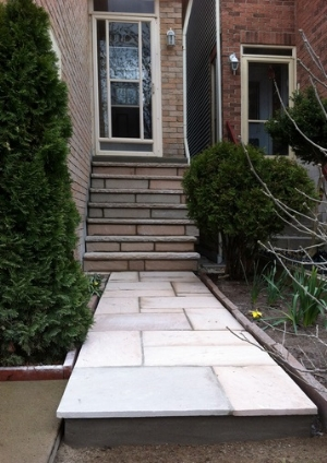Stairway and patio project by A & A Masonry. Click  here  for more samples of their work.