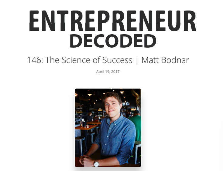 Matt Bodnar on Entrepreneur Decoded