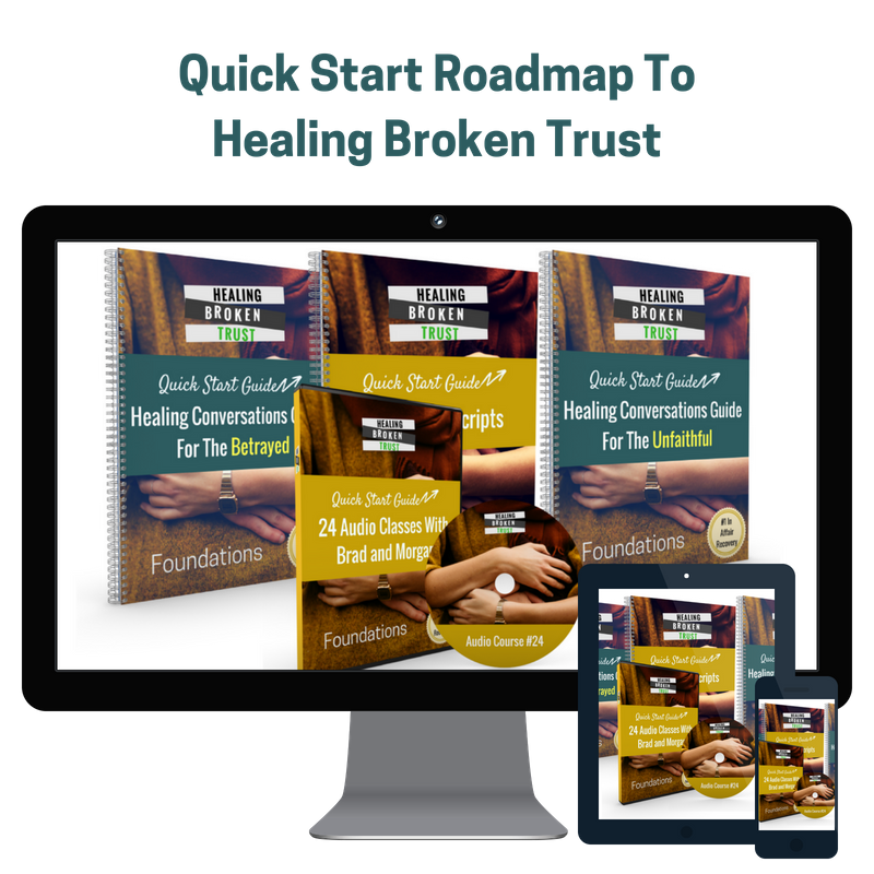 Quick Start Roadmap To Healing Broken Trust - If you've experienced betrayal in your relationship it can be really hard to trust again.  That is why we have created this roadmap to help you fully heal after broken trust.  It's 24 lessons that walk you through many of the hurdles of the recovery process.  It's based on the #1 podcast in iTunes for affair recovery called Healing Broken Trust and more than a decade of our research.