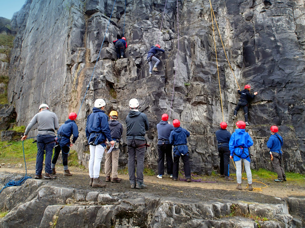SmithCorp Outdoor Leadership Course Brecons Abseiling